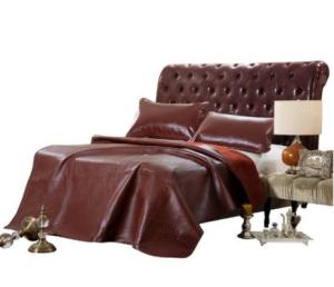 LOVO家纺 罗莱生活出品牛皮席头层水牛皮真皮凉席子 萨尔斯堡 1.8米1299元