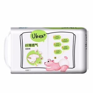 幼蓓(Ubee) 婴儿纸尿裤纤薄透气系列尿不湿乐友孕婴童 L58片(9-14kg) *3件 312.9元(合104.3元/件)