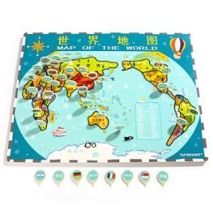 特宝儿(topbright)世界地图木质拼图儿童玩具益智早教 *4件 299.6元(合74.9元/件)