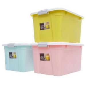禧天龙Citylong 52L大号蝶彩混色收纳箱环保塑料储物箱家用整理箱3支装 6131 109元