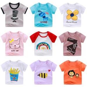 儿童短袖t恤新款男宝宝潮装夏婴儿纯棉上衣中小童半袖女童打底衫 券后6.8元