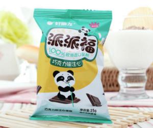 Orion好丽友营养早餐点心零食注心下午茶熊猫派派福巧克力味8枚200g/盒 17.01元