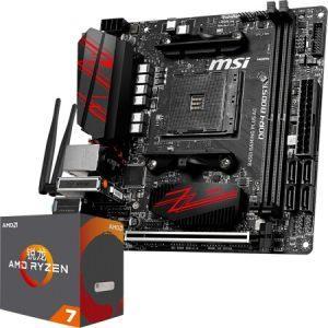 MSI 微星 B450I GAMING PLUS AC 主板+AMD 锐龙 7 2700X CPU 板U套装2920元