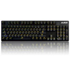 黑爵(Ajazz)机械战警合金版幻彩机械游戏键盘黑色青轴游戏背光办公电脑笔记本吃鸡键盘 119元