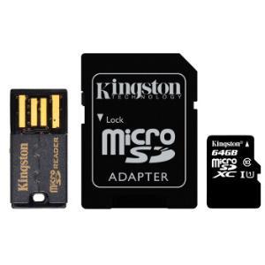 金士顿(Kingston)64GB 80MB/s TF(Micro SD)Class10 UHS-I高速存储卡  读卡器 套件 68.9元