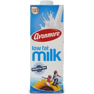愛爾蘭原裝進口 艾恩摩爾(AVONMORE)低脂牛奶1L*6 整箱裝 3.6g/100ml乳蛋白 *3件145.44元(合48.48元/件)