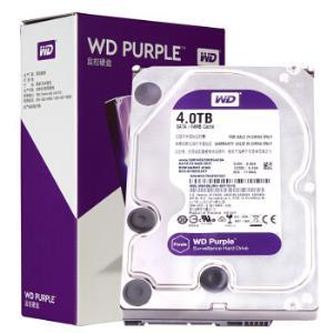 WD西部数据紫盘SATA64M监控机械硬盘4TB(WD40EJRX) 619元