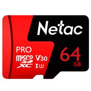 20点开始: Netac 朗科 Pro microSD TF存储卡 64GB 47.9元