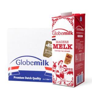 荷兰原装进口荷高(Globemilk)脱脂纯牛奶1L*6整箱装3.7乳蛋白*4件 179.48元(需用券,合44.87元/件)