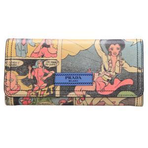 PRADA 普拉达 女士花色人物皮质钱包手拿包 1MH132 2BYL F0D30 *3件
