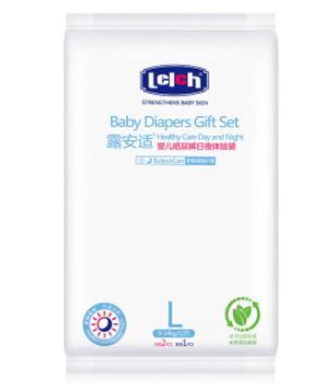 lelch露安适日夜分护婴儿纸尿裤L3片 16元