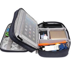 BUBM DPS双层电源包数码配件整理包移动电源U盘硬盘数据线收纳包iPad mini收纳包 黑色小号29.5元