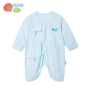 贝贝怡 Bornbay新生儿连体衣春季衣服婴儿衣服0-3个月0-6个月蝴蝶衣和尚服BB126 淡蓝 52 25.52元