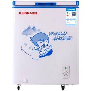 康佳(KONKA)106升 冰柜 冷藏冷冻转换冷柜 节能单温冰箱 BD/BC-106DTH648元