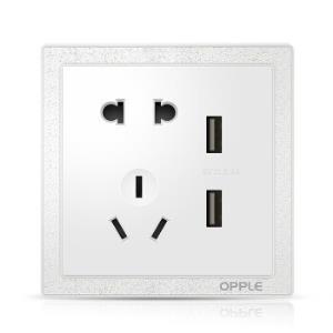 OPPLE欧普照明K07系列86型USB五孔插座 33.38元