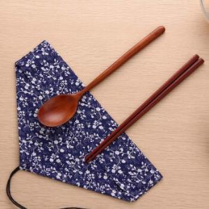 欧润哲筷勺套装日式便携木制筷子勺子餐具套装 12.44元