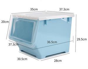 BELO百露前开式塑料收纳箱*3件 68.49元(合22.83元/件)