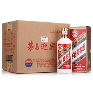 茅台迎宾53度白酒500ml*6瓶整箱装口感酱香型(新老包装随机发货)    468元