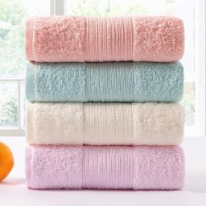 金号毛巾家纺A类纯棉毛巾四条装A类标准吸水面巾洗脸素色简约四条装 19.9元