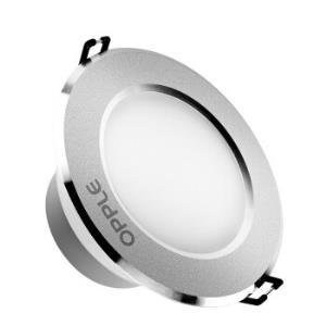 欧普照明(OPPLE)led筒灯3W超薄桶灯客厅吊顶天花灯过道嵌入式孔灯牛眼灯开孔7-8厘米*5件