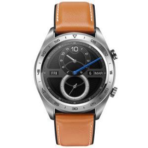 HONOR荣耀WatchMagic智能手表皮质表带月光银 499元
