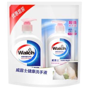 Walch威露士健康抑菌洗手液525ml(赠同款袋装250ml)    5.8元(需用券)