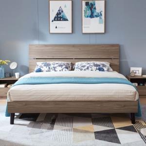 林氏木业现代简约卧室1.8米箱式双人床1.5单人床家具组合套装DV1A 1299元
