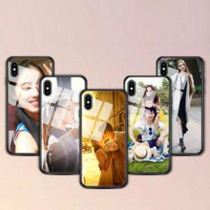 定制任意机型iphonex手机壳xs max苹果6/7/8套xr玻璃X情侣plus定做男女照片DIY私人来图型号制作自制订制相片 券后9.9元