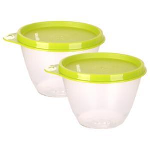 特百惠(Tupperware)鲜果保鲜碗2件套430ml*2颜色随机*4件 136元(合34元/件)