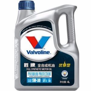 Valvoline胜牌优享型全合成机油5W-30SN级4L 198元
