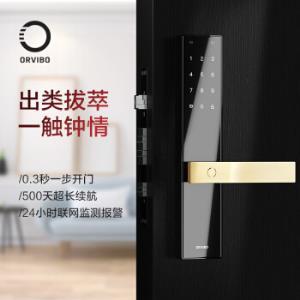 欧瑞博(ORVIBO)T1指纹锁防盗门 智能家用 手机app远程控制 简约现代 标准锁体2299元