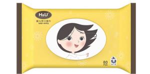H&U爱趣优HU婴儿手口湿巾80片*3包宝宝儿童新生儿湿纸巾*5件 49.5元(合9.9元/件)