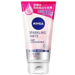NIVEA妮维雅晶纯皙白泡沫洁面乳单支装150g*3件 37.5元(合12.5元/件)