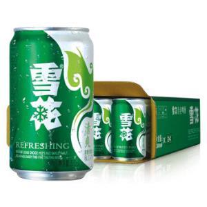 雪花啤酒(Snowbeer)8度清爽 330ml 24听49.9元