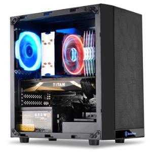 银欣(SilverStone)PS15B-G 精准15 M-ATX钢化玻璃侧透机箱 (支持240mm水冷排/高端显卡/游戏机箱) 229元