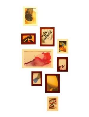 Doruik 德瑞克 实木9框温馨照片墙相框墙组合相框相片墙(仿红木/原木色)99元