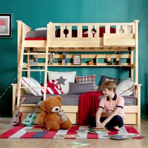 多喜爱AOK 儿童床儿童实木高低床 上下双层床 子母床 芬兰松木床(书架储物架另购) 上下床 1200mm*2000mm2999元