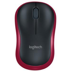 罗技(Logitech)M185 无线鼠标  红 53元