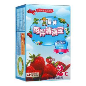 每伴清清宝优+草莓系列2植物固体饮料单盒装160g*4件 118元(合29.5元/件)