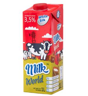 怀丝(whitesilk)全脂纯牛奶(常温奶)1L*12盒波兰原装进口*2件 138.5元(合69.25元/件)