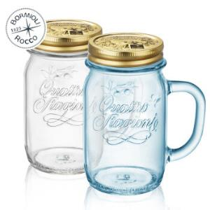 波米欧利意大利进口无铅玻璃杯水杯带盖带把情侣杯 *3件142.8元(合47.6元/件)