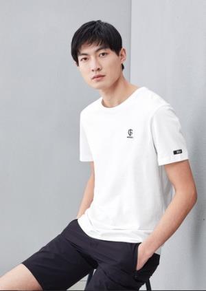 HLA海澜之家男士刺绣T恤 58元