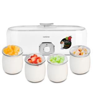 瑞典北欧欧慕(nathome)NSN601家用酸奶机自制老酸奶机玻璃内胆带4分杯优质玻璃杯*6件    424元(合70.67元/件)