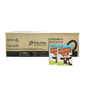 爱尔兰进口牛奶韦沃(VIVA)巧克力牛奶200ML*21盒*2件    117.3元(合58.65元/件)