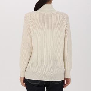 MUJI无印良品W7AA873女士高领毛衣 129元