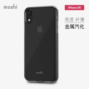 Moshi摩仕 苹果新款iPhone XR手机壳/保护套6.1英寸全包防摔透明软壳亮边壳 Vitros 晶透 *2件
