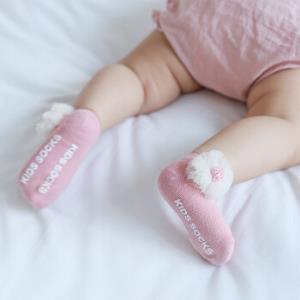 婴儿袜子春秋纯棉薄款春夏中筒新生儿宝宝防滑男女儿童学步地板袜29.9元包邮(需用券)