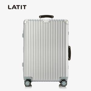 LATIT8953K商务铝框拉杆箱24寸银色 279元