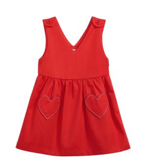 MAXWIN马威女小童梭织背带裙 94.7元