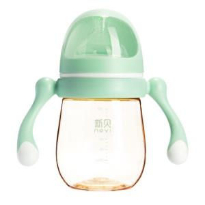 ncvi新贝宇航员系列宽口径PPSU奶瓶180ml绿色*3件